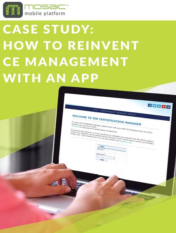 REINVENT CE MANAGEMENT WITH AN APP